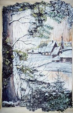 Landscaping paintings old 62 new ideas Landscape Architecture Drawing, Landscape Design Plans, Landscape Paintings, Landscapes, Sidewalk Landscaping, Landscaping With Rocks, Birch Bark Crafts, Front Yard Flowers, Decoupage