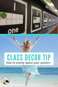 How to space our your posters evenly when you are decorating your classroom. Avoid random empty gaps or uneven spacing with this simple tip! Grade One Snapshots ~ Grade School Snapshots Classroom Signs, First Grade Classroom, Classroom Posters, Primary Classroom, Classroom Ideas, Teaching Kindergarten, Teaching Ideas, Creative Teaching, High School Subjects