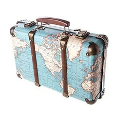 Around the world vintage map suitcase bags suitcases sass around the world vintage map suitcase bags suitcases sass belle shabby chic pinterest vintage maps suitcase and belle gumiabroncs Image collections
