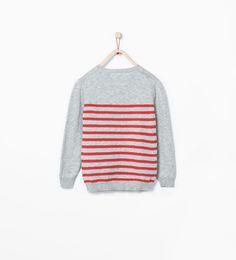 ZARA - KIDS - Contrast striped sweater