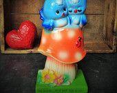 Vintage Bluebirds Figurine 1970s American Greetings by Misinterpreted on Etsy