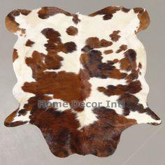 Brown Tricolor Colombian Cowhide Rug