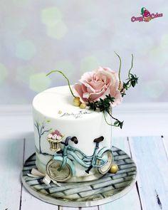 cake for grandma - cake by crazycakes Elegant Birthday Cakes, Beautiful Birthday Cakes, Beautiful Cakes, Amazing Cakes, Designer Birthday Cakes, Birthday Cake Designs, Grandma Birthday Cakes, Baby Birthday Cakes, Grandma Cake