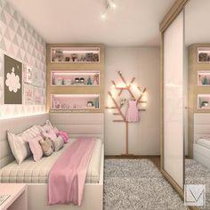 Com um quartinho desses eu já me sinto princesa e vcs?? | Projeto Laura Mueller Arquitetura #decoredecor #girls #somosconteudo_ DECOREDECOR | DESIGN | GIRLS