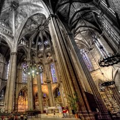 Cathedral of Santa Eulalia in Barcelona. #Barcelona  Photo by marcp_dmoz on Flickr