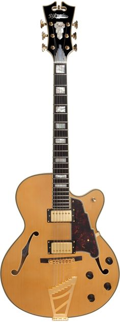D'Angelico Excel DH Archtop Electric Guitar Natural Tint