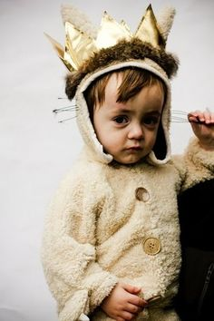 A costume idea from Little BGCG among other things that I am pinning here because 1. It's a good picture and 2. He exactly as if he popped out of Where the Wild Things Are and it's so cute I can't even handle it!
