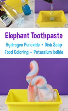 Cool Science Experiments, Science For Kids, Stem For Kids, Art For Kids, Elephant Toothpaste Experiment, Preschool Crafts, Crafts For Kids, After School Care, First Grade Science