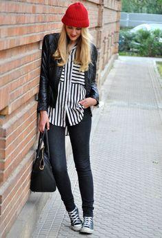 53% off.Stripes Loose Shirt$18.32 http://udobuy.com/goods-10143.html