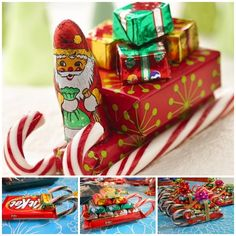Put this Candy Cane Sleigh under your Christmas tree that the recipients will get a BIG SURPRISE ! (y) Check tutorial--> http://wonderfuldiy.com/wonderful-diy-christmas-candy-cane-sleigh/