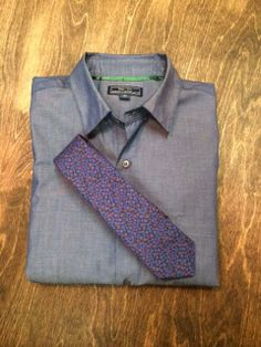 Blade + Blue - Zachary Purple Floral Print Tie :: Maxton Men