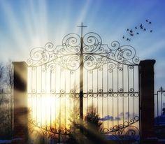 Gates of heaven + sun beams