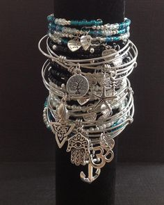 Check the way to make a special photo charms, and add it into your Pandora bracelets. Alex and Ani Inspired Bracelets
