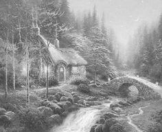 Kleurplaten Van Huizen : Beste afbeeldingen van huizen landschappen coloring pages