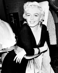 Marilyn on the set of There's No Business Like Show Business. 1954.