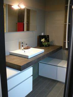 Bonjour je recherche des photos de meuble de salle de - Utiliser meuble cuisine pour salle de bain ...
