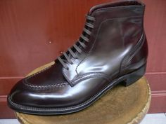 Alden Indy Boots on a modified last by Anatomica www.facebook.com/... dressshoesandsnea...