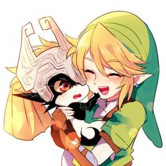 Midna and Link <3 By @aju00_dyd