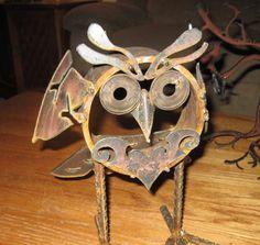 Yard Art Ideas From Junk   ... Art-One of a kind Metal Sculpture-Found Object Art-Junk Art-Folk Art