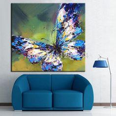 100% pintado à mão pintura a óleo abstrata moderna da lona borboleta New Home decoração para sala pinturas de parede
