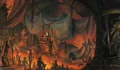 The Court of Miracles  Concept Art for Hunchback of Notre Dame