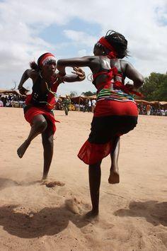 Dancing women in Gambia