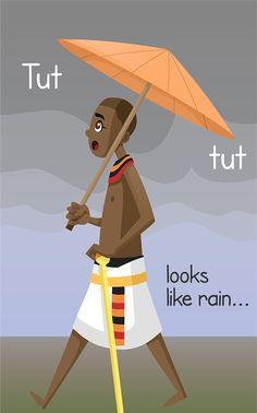 King Tut in the rain!