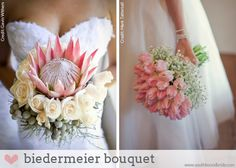 A SouthBound Guide to Bouquet Types | biedermeier bouquet  Images: Gavin Withers/Floral Services via SA Weddings (left);  Mark Tattersall Photography /Perfect Choice Planning /Laurel Weddings (right)...