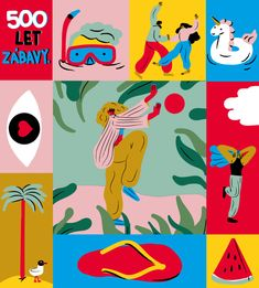 Limited summer edition Hanácka Vodka on Behance Flat Illustration, Graphic Design Illustration, Box Design, Traditional Art, Vodka, Character Design, Branding, Princess Highway, Creative