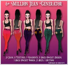 New 6+ Million Jean Generator With Resell Rights (0/5 Sold) @ http://lnk.al/1iII