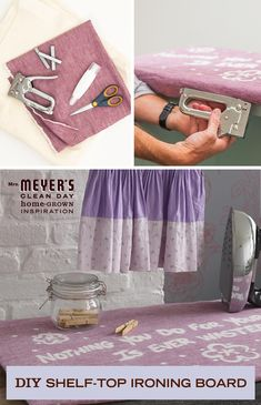 From our friends at Apartment Therapy, this easy DIY storage for blankets doubles as décor. Give one to a friend along with Mrs. Meyer's Clean Day Dryer Sheets so their blankets can have a home and a fresh scent!