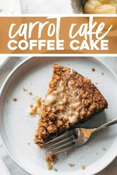 Carrot Cake Coffee Cake! Brunch of dreams. A super easy batter loaded with shredded carrots, topped with a thick crumbly cinnamony streusel, and finished with a melty sweet honey butter. YUM. #coffeecake #carrotcake #brunch | pinchofyum.com