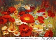Lucas Santini - Meadow Poppies I