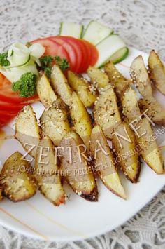 Картофельные дольки на шпажках, запеченные в духовке-домашние рецепты с фото