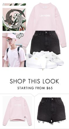 """seok jin"" by together-moon ❤ liked on Polyvore featuring Ksubi and Puma"