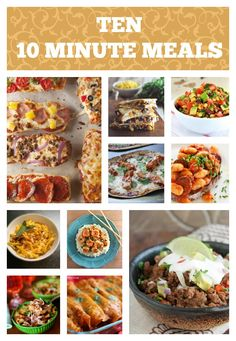 Ten 10 Minute Meals {Have Dinner on the Table in a Flash!} -