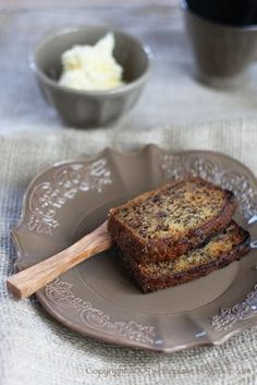 Chlebek bananowy Sophie Dahl Sophie Dahl, White Plates, No Bake Desserts, Banana Bread, Cake Recipes, Sweet Tooth, French Toast, Bakery, Ice Cream