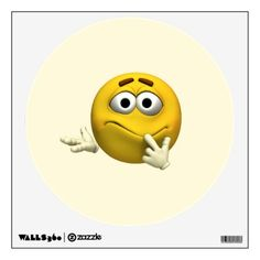 #Confused Emoticon #Wall #Graphic
