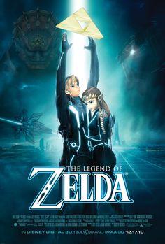 The Legend of Zelda - Tron-ified. Love tron, don't care for Zelda, but still cool Miguel Angel, Jackie Brown, Tron Legacy, Mileena, Nerd Herd, Twilight Princess, Looks Cool, Legend Of Zelda, Nerdy