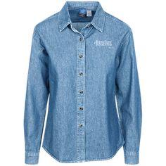Hustle Until - Port Authority Women's LS Denim Shirt