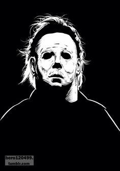 Michael Myers Halloween Film, Halloween Horror, Halloween College, Halloween Artwork, Halloween Season, Halloween Stuff, Halloween Ideas, Horror Icons, Horror Art