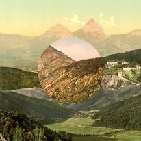 Rigid, a collage of mixed landscapes. — Designspiration