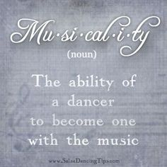 Musicality, it's a beautiful thing: