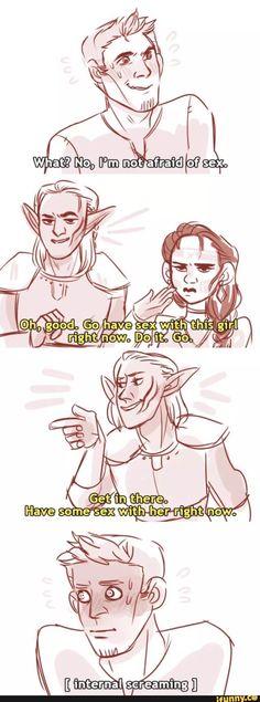 Alistair and Zevran