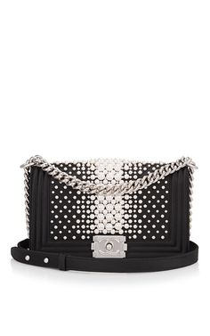 441dd0344664 Limited Edition Chanel Black Pearl Medium Boy Bag by Madison Avenue Couture  for Preorder on Moda