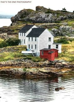 Houses By The Water In Newfoundland Canada. Ottawa, Quebec, Newfoundland Canada, Newfoundland And Labrador, Nova Scotia, Alberta Canada, Landscape Photos, Landscape Photography, Paisajes