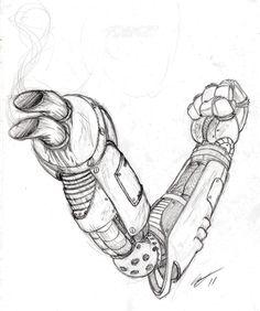 Diesel Punk Arm by EskimoMittens.deviantart.com on @deviantART