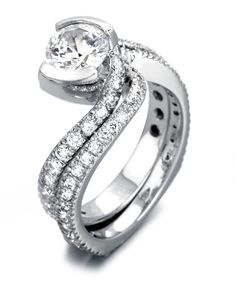 Endless Love Engagement Ring with Wedding Band - Mark Schneider Design