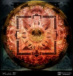 """""""Mandala 2013 by Dean Copa. A meditative pattern that's losely related to the chakras tradition, representing in a way the first one. Art Series, New Media, Chakras, Dean, Mystic, Meditation, Mandala, Fine Art, Traditional"""