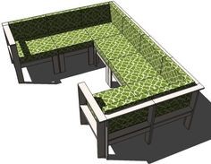 Ana White | Simple Modern Outdoor Sectional Armless Section - DIY Projects